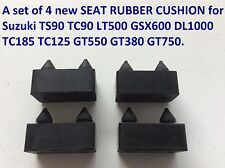Set of New SEAT RUBBER CUSHION for Suzuki TS90 TC LT500 GSX600 DL TC185 TC125 GT