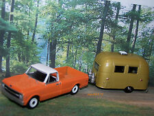 1969 CHEVY C-10  + AIRSTREAM CAMPER 1/64 SCALE COLLECTIBLE MODELS - DIORAMA