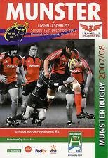 Munster v Llanelli Scarlets - Heineken Cup 16 Dec 2007 Thomond Park, RUGBY PROG