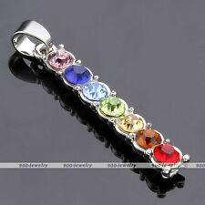 Mixcolor Gemstone Crystal Bead Reiki Angle Stickl Yoga Chakra Pendant 1x