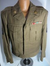 US Army WW2 Ike Jacket with Nice 3rd Army German Made Patch sz 38s TCpl Rank