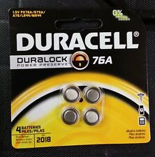 8 pcs DURACELL Duralock 76A PX76A 675A A76 LR44 MR4 1.5V Batteries Exp:12/2018