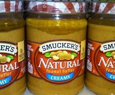 3 Jars of Smucker's Natural Creamy Peanut Butter  16 oz Each
