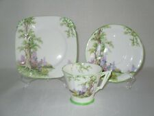 "RARE Royal Albert Art Deco "" Greenwood Tree "" Trio"