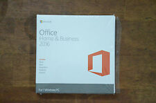 MICROSOFT OFFICE HOME and BUSINESS 2016 FOR WINDOWS NEW SEALED BOX DVD