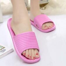 Women Flat Home Bath Slippers Summer Sandals Non-slip Indoor&Outdoor Shoes