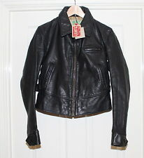 "BNWT LADIES LVC LEVIS 1930s ""METROPOLIS"" BLACK LEATHER JACKET, MEDIUM, RRP £725"