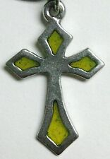 Windows of Light cross pendant - Small Diamond (yellow resin)