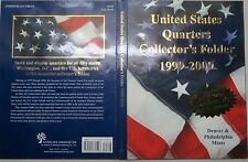 """1999-2009  STATE COMMEMORATIVE QUARTERS """"COLLECTORS FOLDER"""" Complete P/D Mints"""
