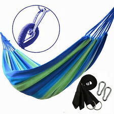 Portable Outdoor Swing Fabric Camping Beach Hanging Hammock Canvas Bed *Strong*