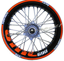 KTM SMC 690 - easy-wrapped Felgenaufkleber (Supermoto) wheel sticker decal