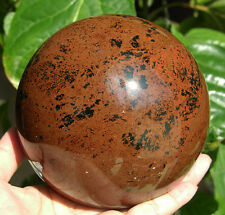 111 mm Mahogany Obsidian Crystal Sphere Ball Gemstone from Mexico