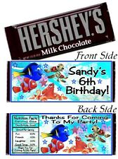 12 Finding Dory Birthday Party or Baby Shower Candy Hershey Bar Wrappers Nemo