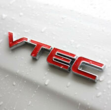 3D Red VTEC Sports Metal Letter Graphics Stickers Car Trunk Body Hoods For Honda