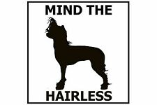 Mind the Chinese Crested Hairless - Gate/Door Ceramic Tile Sign