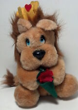 1988 Applause Stuffed Valentine's Lion Heart