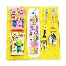 Pororo spoon & fork & case & cup set (Pink)