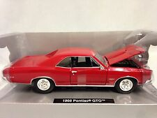1966 Pontiac GTO H/T, Muscle Car, Collectible Diecast 1:25 New Ray Toys, RD, W/B