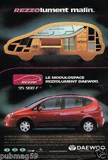 Publicité advertising 2000 La Nouvelle Daewoo Rezzo