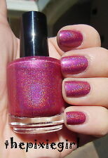HOLOGRAPHIC Linear Rainbow Spectraflair Pink Nail Polish Lacquer Full 15mL Size