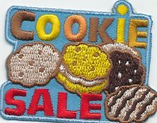 boy girl COOKIE SALE BLUE selling Fun Patches Crests Badges SCOUT GUIDES sales