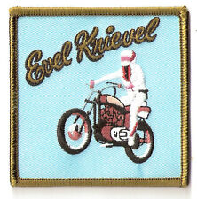 EVEL KNIEVEL 70's Stunt Motor Bike Legend ~ RARE RETRO Embroided Iron On Patch