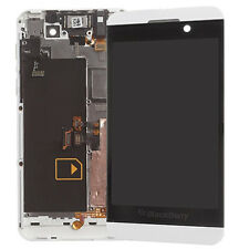 OEM BLACKBERRY Z10 4G WHITE FULL LCD DISPLAY TOUCH SCREEN DISPLAY WITH FRAME