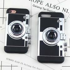 3D Simulation Camera Plating Chrome Glitter Cover Case For iPhone 5s 6 6s 7 Plus