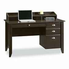 Sauder Shoal Creek Writing / Laptop Desk with Hutch, Jamocha Wood