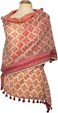 Schal Baumwolle Seide,  Foulard Rot Red Sommer scarf stole cotton silk summer