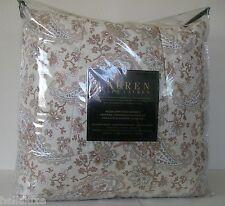 Ralph Lauren CORAL PAISLEY QUEEN 4PC Set Beach COMFORTER Bedskirt~2 Pillow Shams