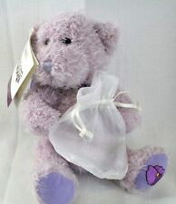 Charmlings Teddy Bear Plush with Violet Charm February for Bracelet Encore