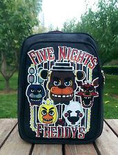 Black FNAF&Five Nights At Freddy's Freddy Foxy Bonnie Kid Backpack Schoolbag Bag