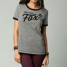 Fox Racing Fox Girl Series Ringer Tee Heather Graphite (Large)