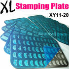 10pcs BIG Full French Nail Stamping Plate XL Stamp Image Print Disc Template NEW