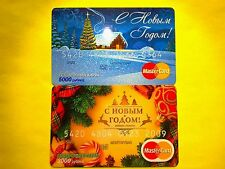"Russia Mastercard 2 beautiful cards ""Happy New Year"""