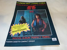 ROBIN MC AULEY & MICHAEL SCHENKER Publicité de magazine / Advert PERFECT TIMING