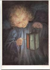 Alte Kunstpostkarte - M. Spötl - Licht und Freude!