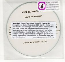 (GP327) White Belt Yellow Tag, You're Not Invincible - 2008 DJ CD