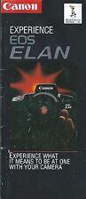 Camera Brochure - Canon - EOS Elan - 1993  (CB149) - N