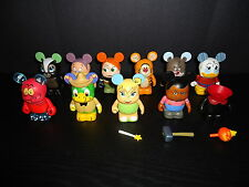"DISNEY 3"" VINYLMATION ANIMATION #2 LOT OF 11 FIGURES HEADLESS HORSEMAN CHASER"