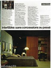 Publicité Advertising 1972 Mobilier les Meubles Interlubke