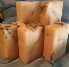 6 bars of castile handmade soap made with olive & coconut oil EXOTIC CITRUS