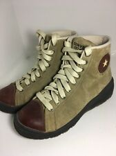 MEN'S CONVERSE ALL STAR  BOOT HI ATHLETIC SNEAKERS SAND DUNE SHOES 7 Leather