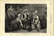 1876 Three Young Gossips Of Brittany M Bergh Artwork