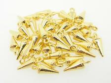 Spike Charms with Loop Gold Overlay 15mm x 5.5 mm 36 Pieces t