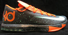 Nike KD VI 6 Texas Size 10.5 Black Green Orange Mens Basketball Shoe 599424-002