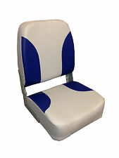 High Quality Large Folding Boat Seat - Grey / Blue