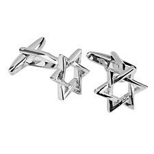 Business Shirt Silver CUFFLINKS Cuff Links Hexagon Men Boy Wedding Accessory