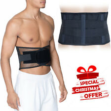Back Support Belt Lumbar Lower Waist Backache Pain Relief Therapy Magnetic Brace